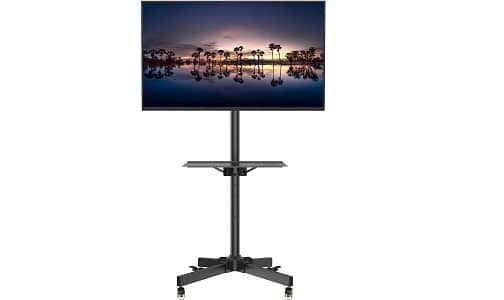1home Mobile TV Cart Rolling TV Stand