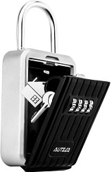 AUTSCA Key Lock Box Wall Mounted Stainless Steel Key Safe Box