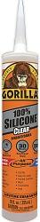 Gorilla Clear 100 Percent Silicone Sealant Caulk