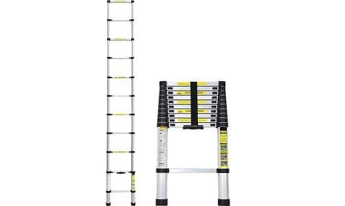 Idealchoiceproduct 10.5 FT Aluminium Telescopic Telescoping Ladder
