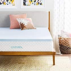 Linenspa, 2 Inch Gel, Infused Memory Foam Mattress Topper