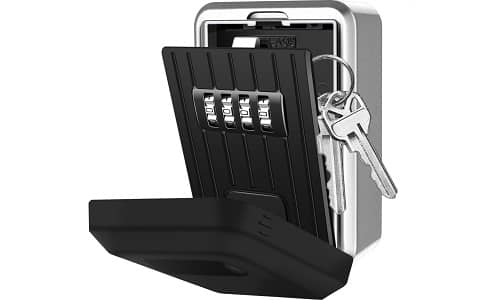 Mofut Wall Mounted Weatherproof Resettable Code Key Lock Box