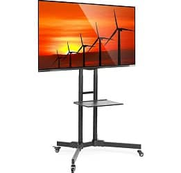Mount Factory Rolling TV Stand Mobile TV Cart