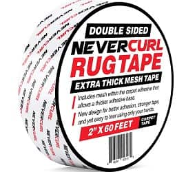 iPrimio - Never Curl Double Sided Extra Thick Rug Tape