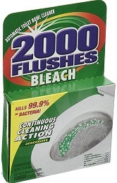 2000 flushes bleach automatic toilet bowl cleaner