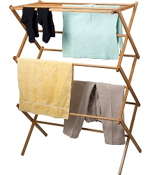 Home clothes drying rack Bamboo