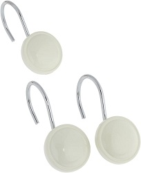Carnation Home Fashions Ceramic Resin Shower Curtain Hook