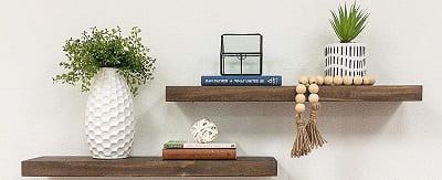 Del Hutson Designs Rustic Pine Solid Wood Floating Shelves
