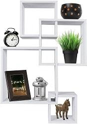 Greenco Decorative 4 Cube Wall Mounted Floating Shelves
