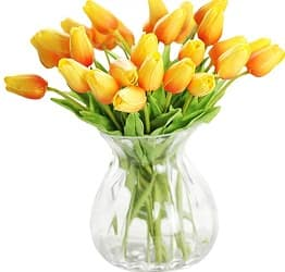 XIAOHESHOP Real-Touch Artificial Tulip Flowers