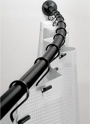 iDesign Curved Metal Shower Curtain Rod