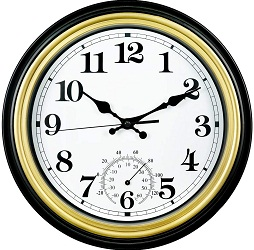 SMILEMARY Retro Silent Wall Clock