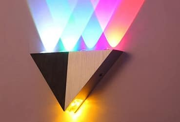 5W Triangle LED Wall Scone