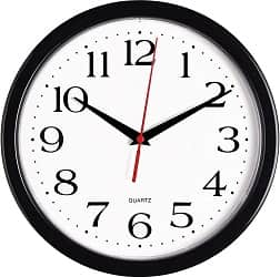Bernhard Products Black Wall Clock