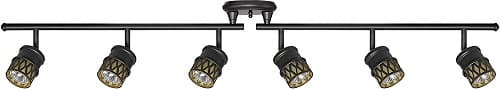 Globe Electric 59086 Kearney 6-Light Foldable Track Lighting