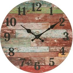 Stonebriar Rustic Wooden Wall Clock