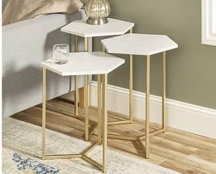 Walker Edison Furniture Company Nesting Table Set
